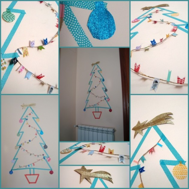 Arbol la mar de washi tape
