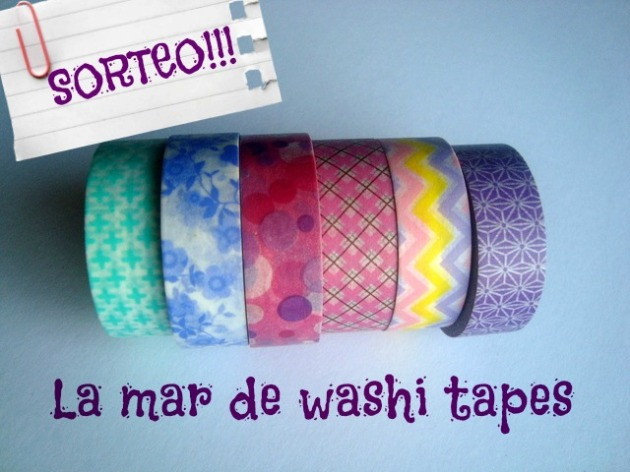 Sorteo en la mar de washi tapes